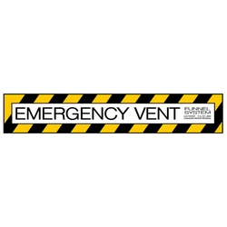 Emergency Vent Decal DECAL-M-06
